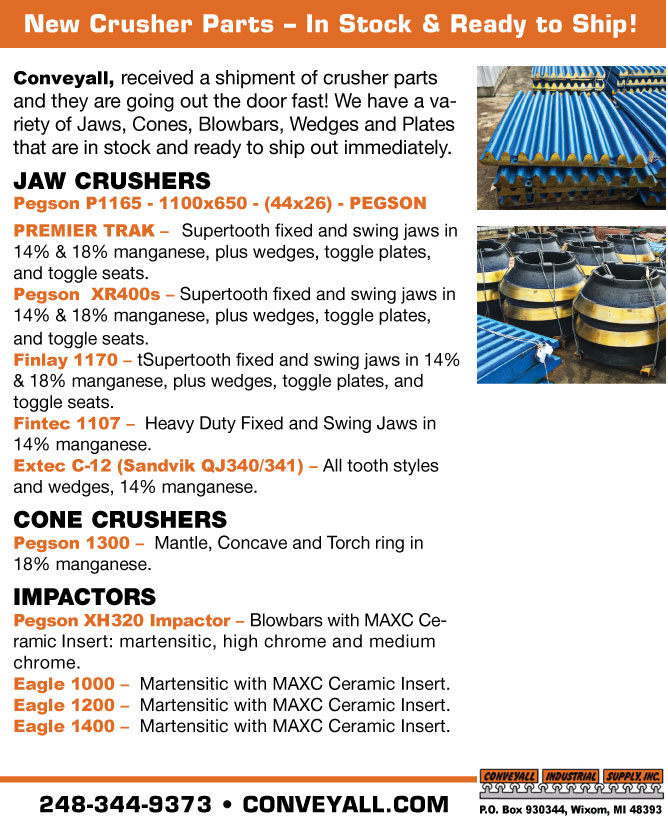 New Crusher Parts – In Stock & Ready to Ship!