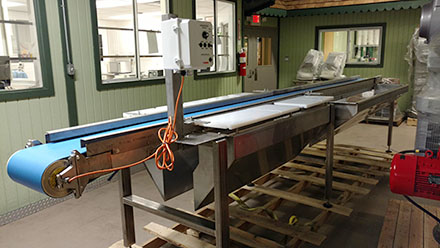 another Conveyor built and designed by Conveyall to process and package ready to eat fruits and vegetables.